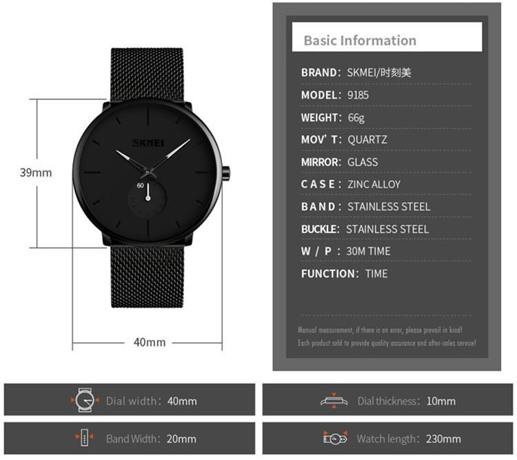 Skmei 9185 Stainless Steel Strap Quartz Watch (6)