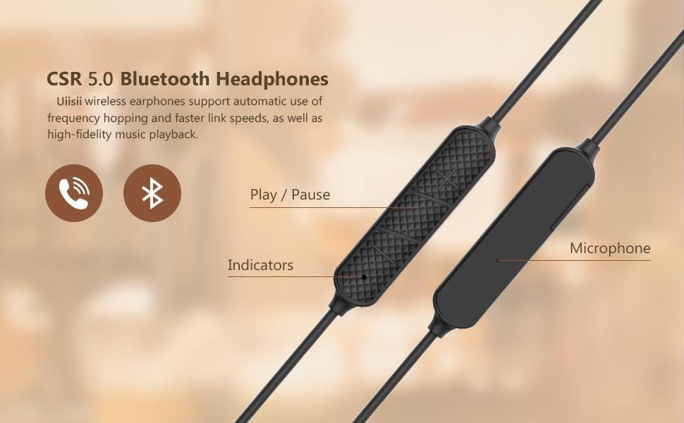 Uiisii Bt260j Bluetooth Waterproof Earphones (8)
