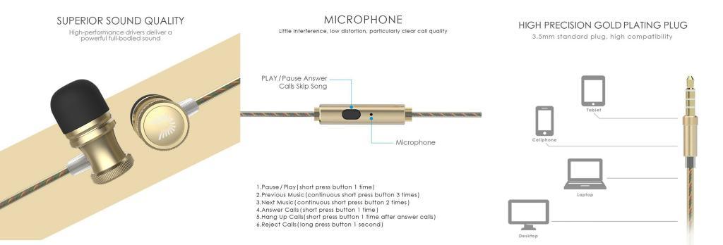 Uiisii Us80 Stylish Audio Bass Earphones With Mic (5)