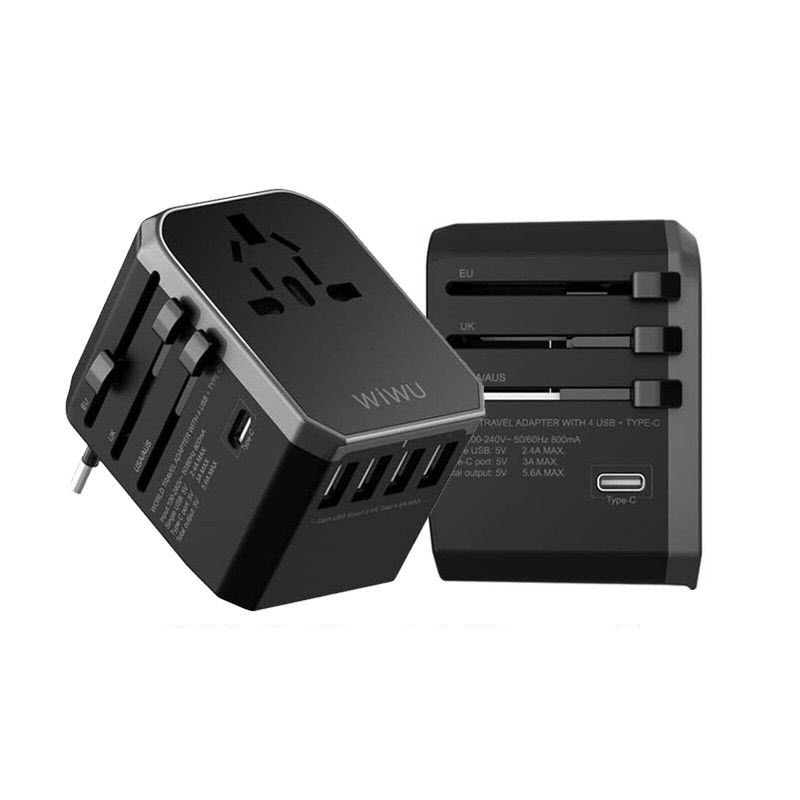 Wiwu Wa 301 Universal Travel Adapter With 4 Usb Port Type C (1)