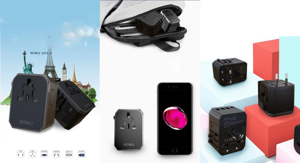 Wiwu Wa 301 Universal Travel Adapter With 4 Usb Port Type C (2)
