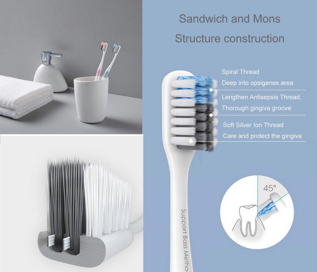 Xiaomi Doctor Bei Bass Toothbrush 4pcs (1)