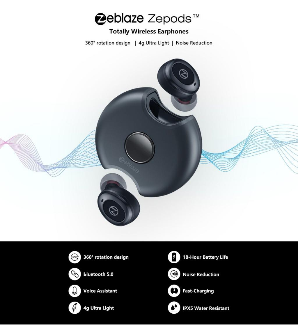 Zeblaze Zepods Totally Wireless Earbuds With Type C Fast Charging (6)