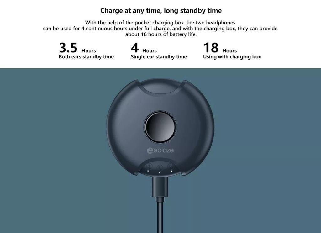 Zeblaze Zepods Totally Wireless Earbuds With Type C Fast Charging (7)