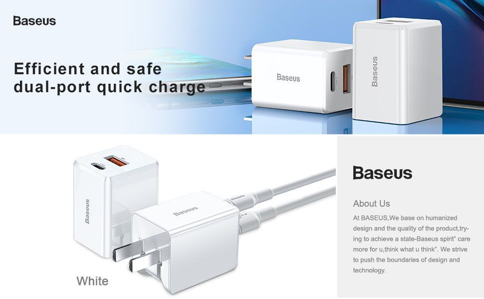 Baseus 18w Pd Quick Type C Charger For Macbook Pro Air Iphone Ipad Pro (3)