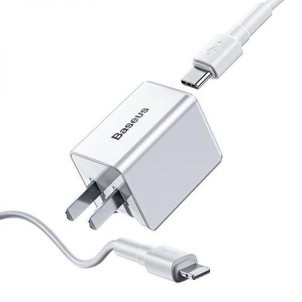 Baseus 18w Pd Quick Type C Charger For Macbook Pro Air Iphone Ipad Pro (5)