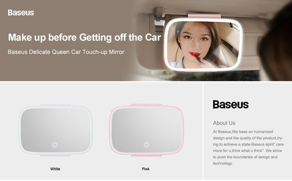 Baseus Car Interior Led Makeup Mirror (3)