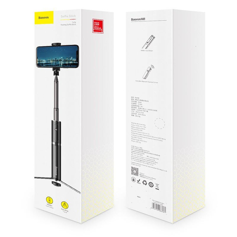 Baseus Foldable Bluetooth Control Selfie Stick With Tripod (3)