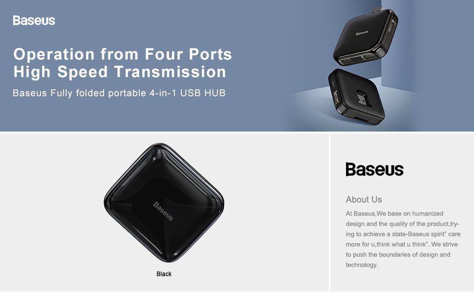 Baseus Fully Folded Portable 4 In 1 Usb Hub (1)