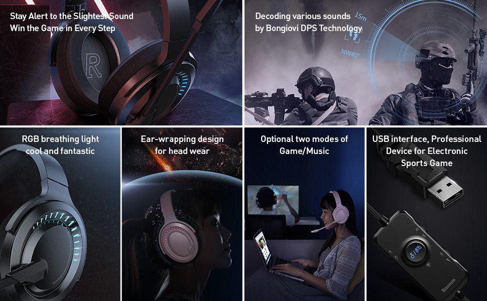 Baseus Gamo D05 Surround Sound 3d Pc Gaming Headphone (3)