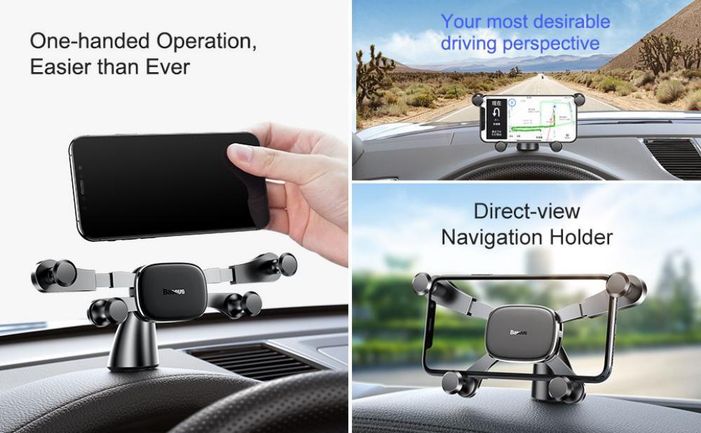 Baseus Horizontal Screen Gravity Car Phone Holder (4)
