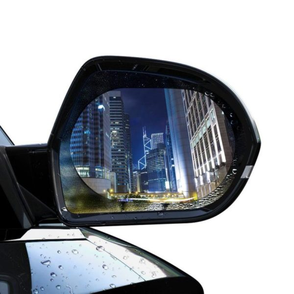 Baseus Oval Shape Car Rearview Mirror Film Anti Fog Rainproof Anti Glare Film (2)