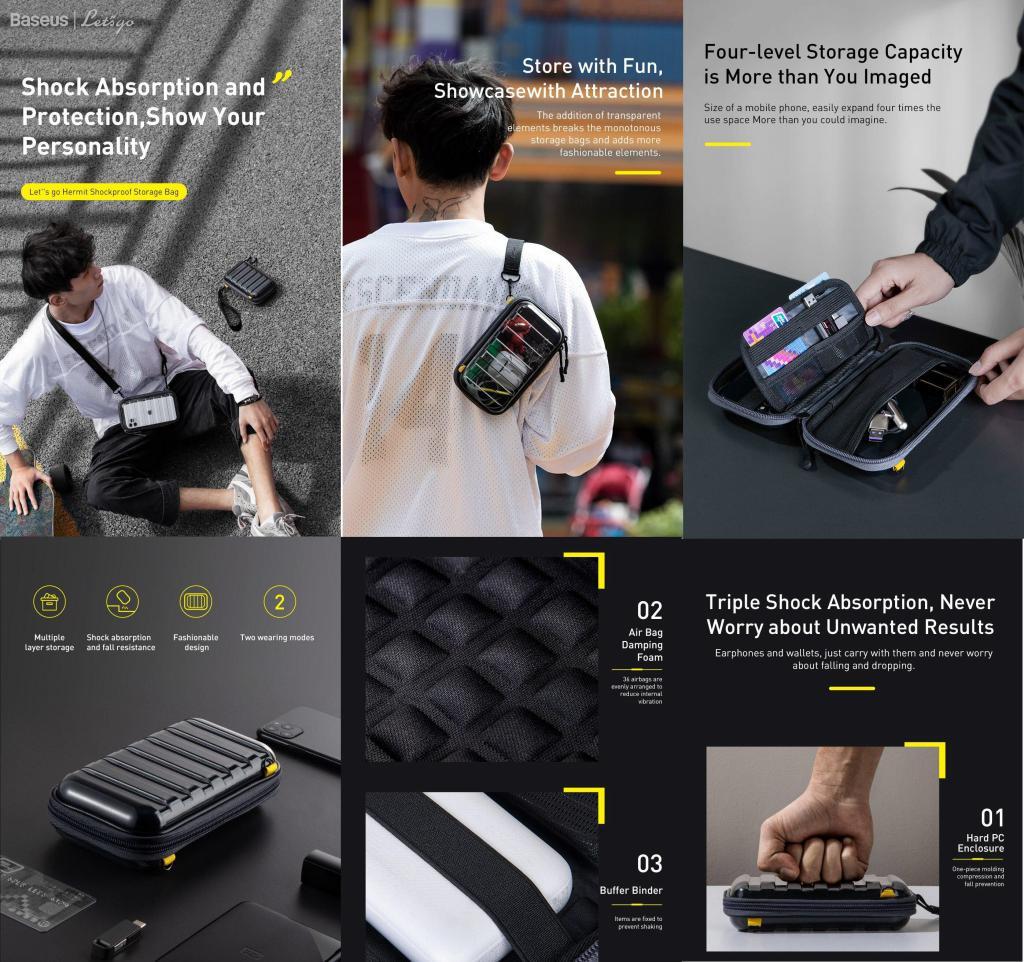 Baseus Phone Pouch Shockproof Storage Bag (1)