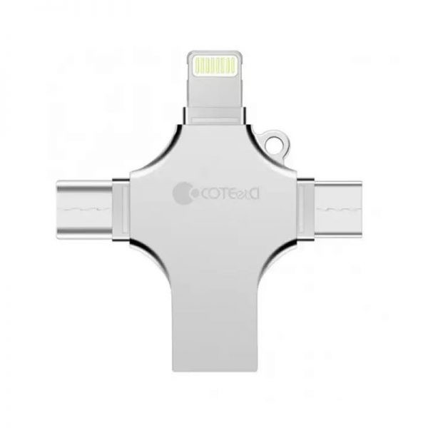 Coteetci 4 In 1 Zinc Alloy Iusb Usb Flash Drive (2)