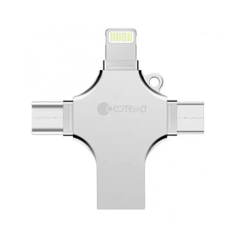 Coteetci 4 In 1 Zinc Alloy Iusb Usb Flash Drive (2)