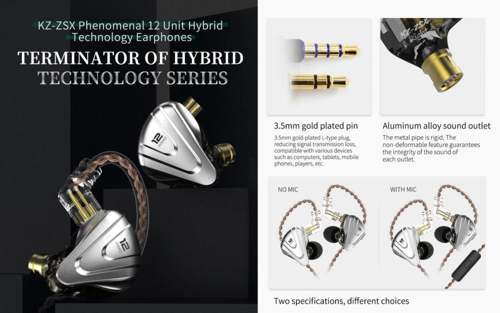 Kz Zsx 5ba1dd Hybrid In Ear Earphone (2)