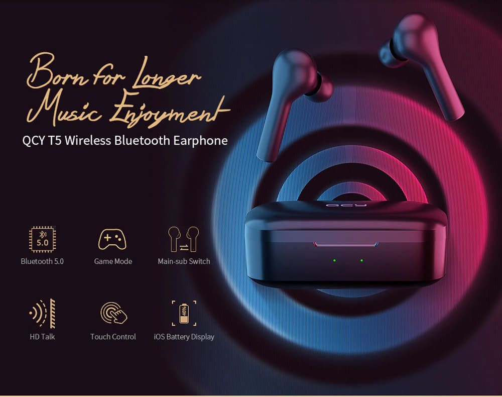 Qcy T5 Wireless Bluetooth Earbuds (1)