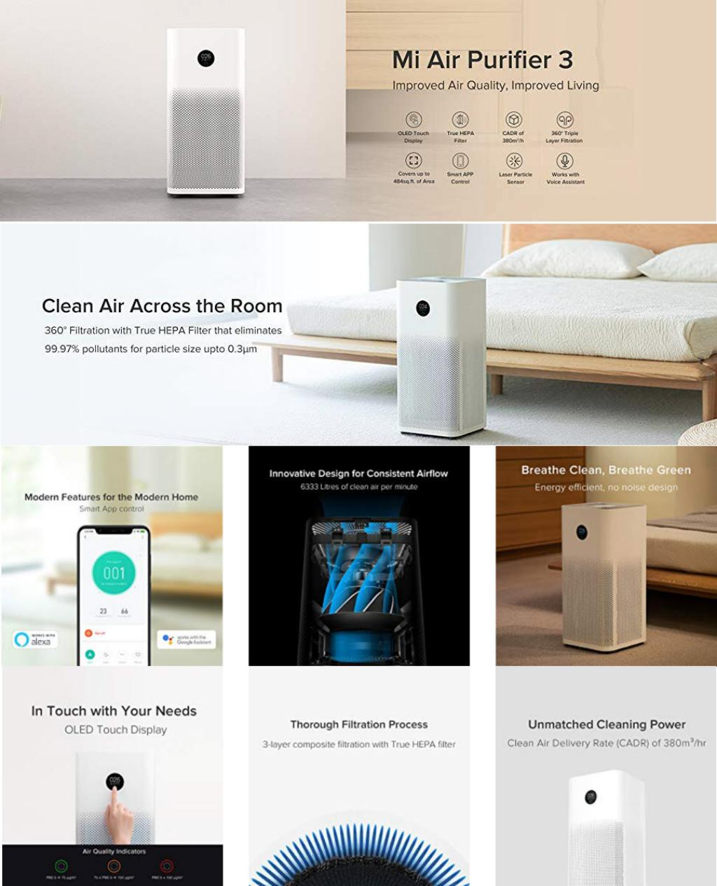 Xiaomi Air Purifier 3 With Oled Touch Display (2)