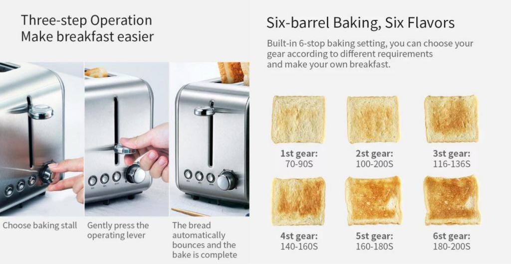 Xiaomi Deerma Toaster Electric Bread Baking Machine (5)