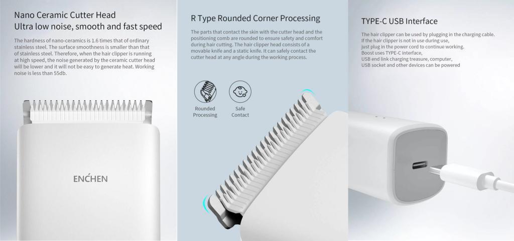 Xiaomi Enchen Boost Usb Electric Hair Trimmer (3)