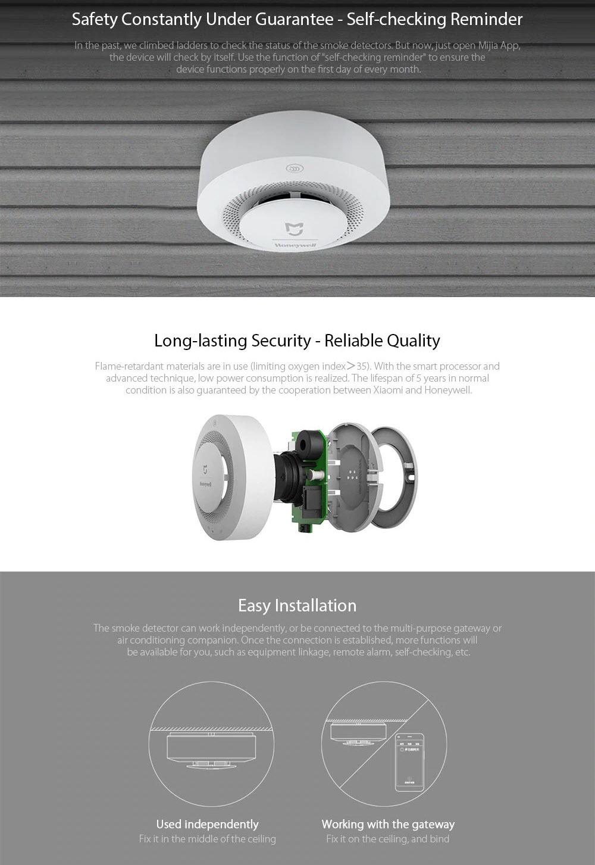 Xiaomi Honeywell Fire Alarm Smoke Sensor (2)