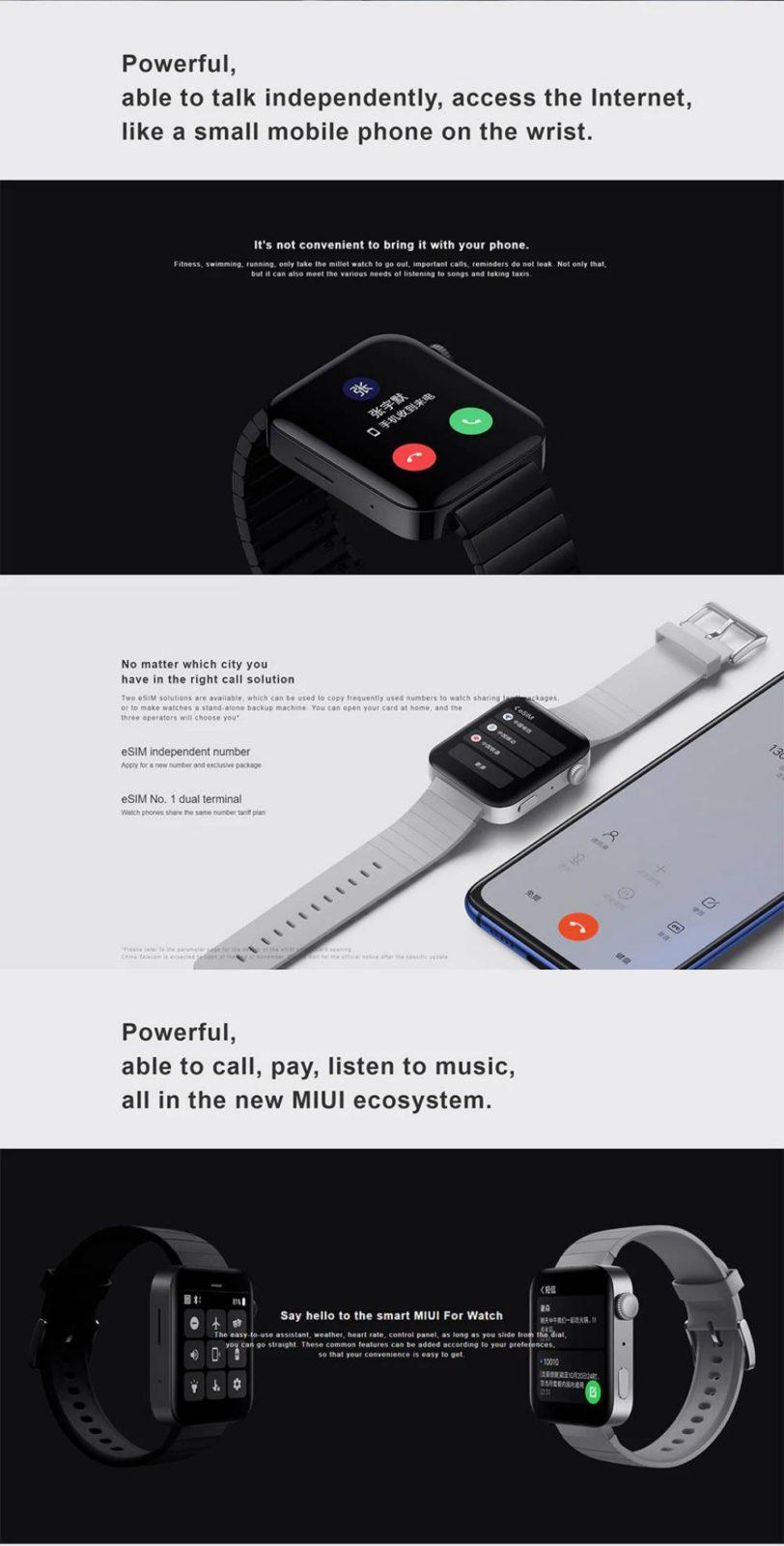 Xiaomi Mi Watch 4g Amoled Screen Smart Watch (4)