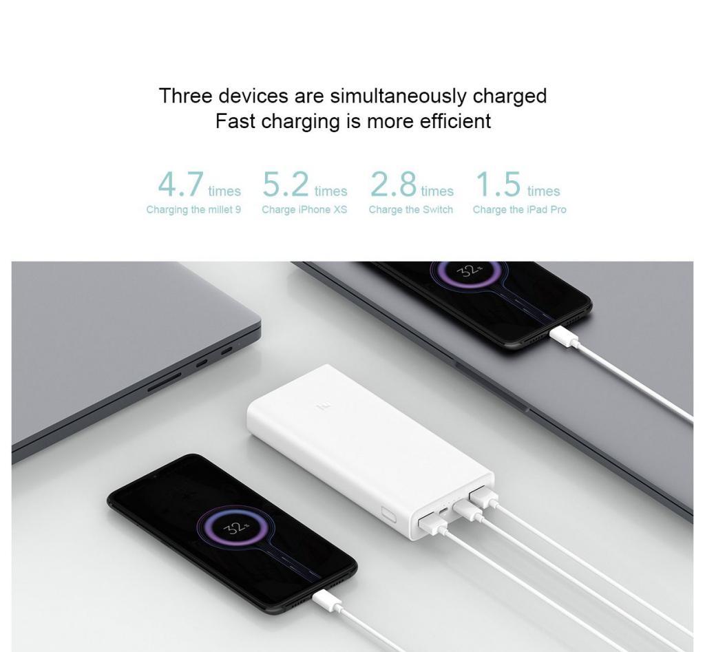 Xiaomi Power Bank 3c 20000mah Usb C Two Way Fast Charge Version (2)