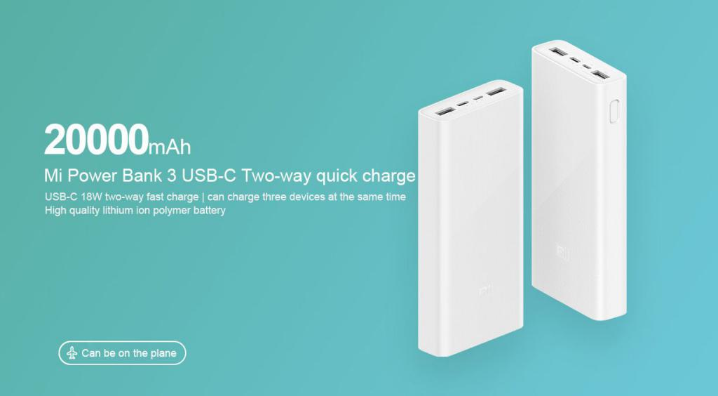 Xiaomi Power Bank 3c 20000mah Usb C Two Way Fast Charge Version (4)