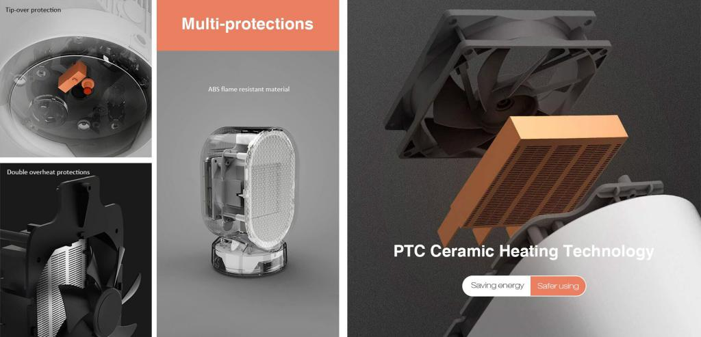 Xiaomi Viomi Mini Portable Touch Control Heater Hot Fan Warmer (3)