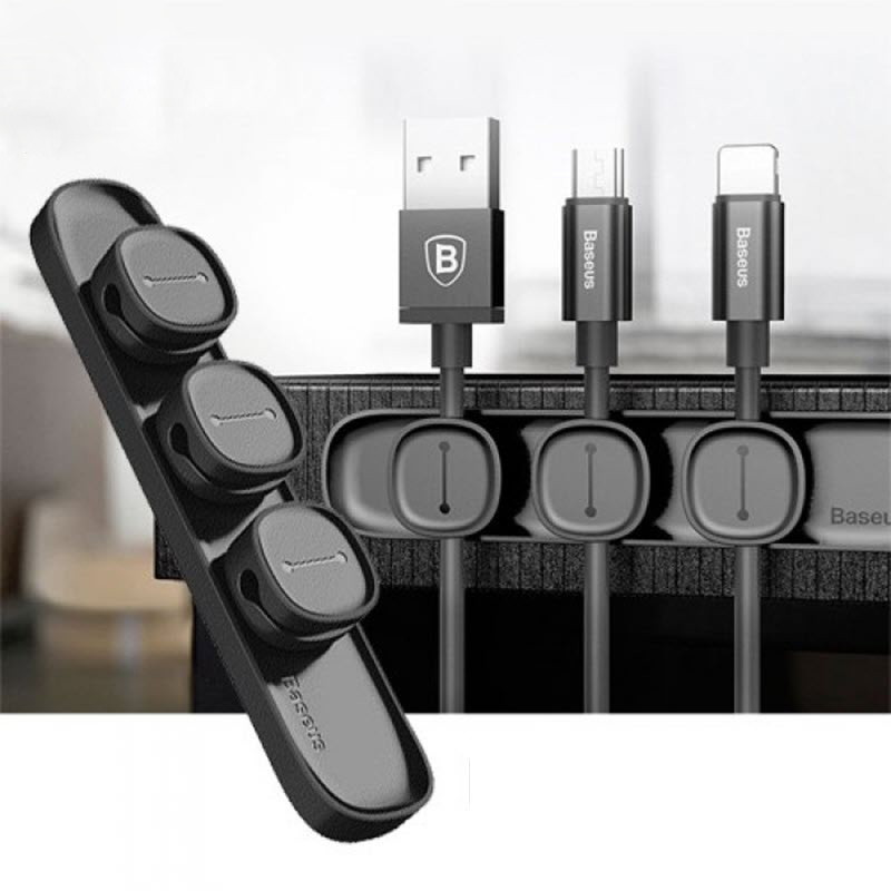Baseus Peas Magnetic Cable Clip Wire Organizer Clip Holder