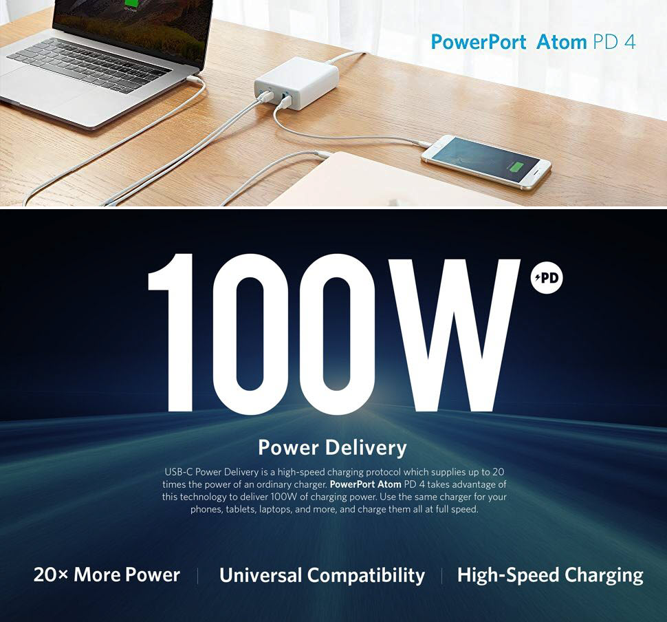 Anker Powerport Atom Pd 4 100w 4 Port Type C Charging Station (2)