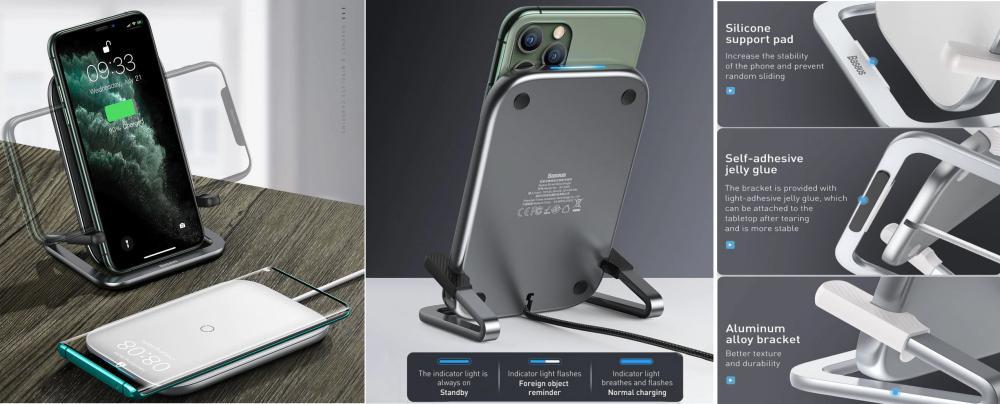 Baseus Rib 15w Wireless Charger Horizontal Vertical (1)