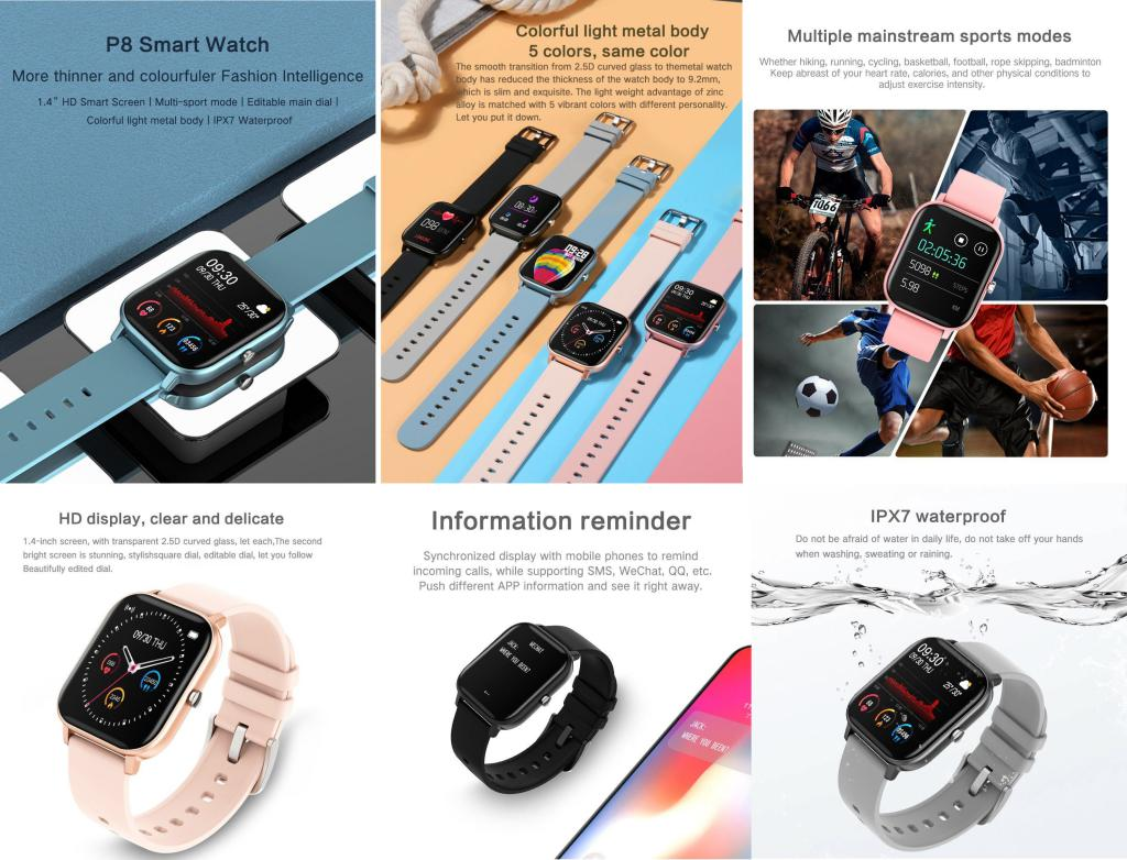 Colmi P8 Smartwatch Ipx7 Waterproof (1)