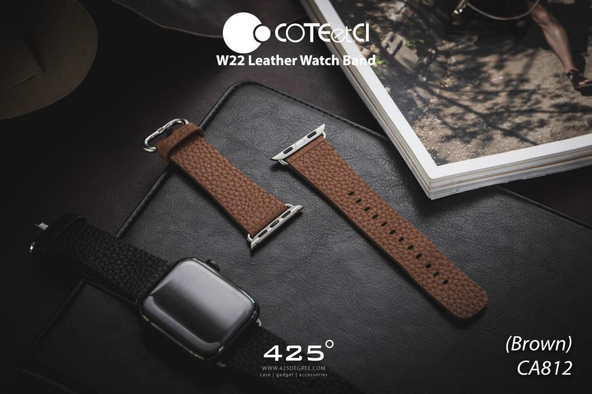 Coteetci W22 Leather Strap Band For Apple Watch 42 44 Mm (5)