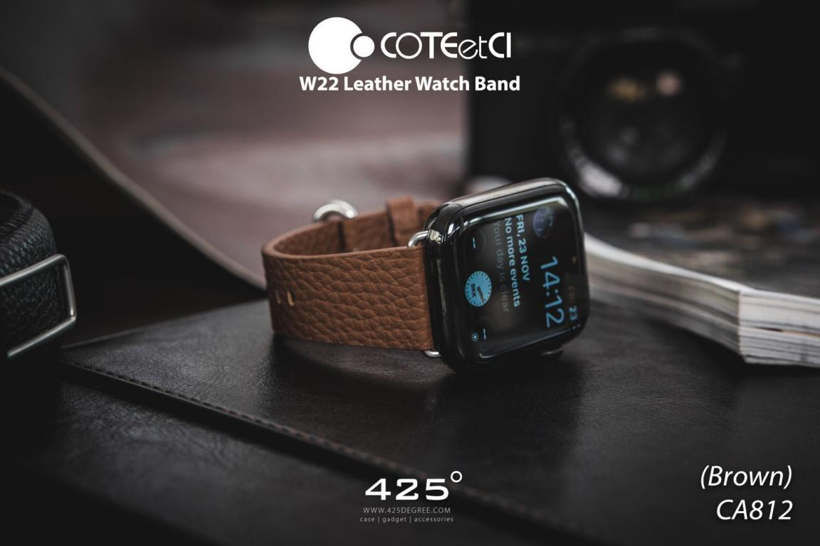 Coteetci W22 Leather Strap Band For Apple Watch 42 44 Mm (6)
