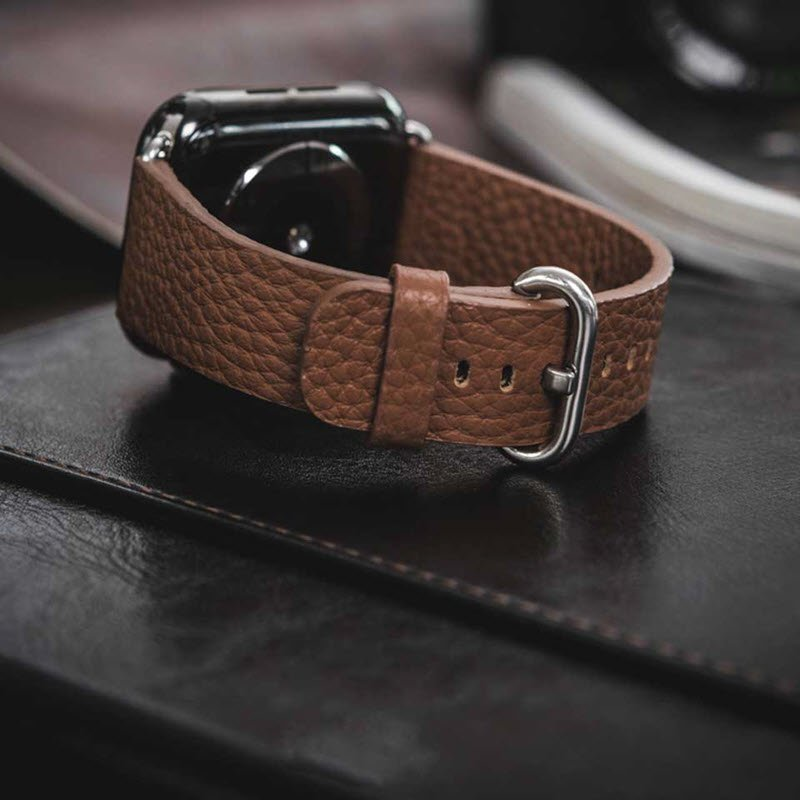 Coteetci W22 Leather Strap Band For Apple Watch 42 44 Mm