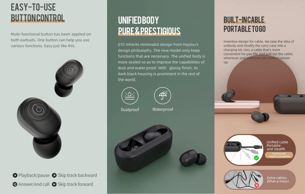 Haylou Gt2 Truly Wireless Earbuds (1)