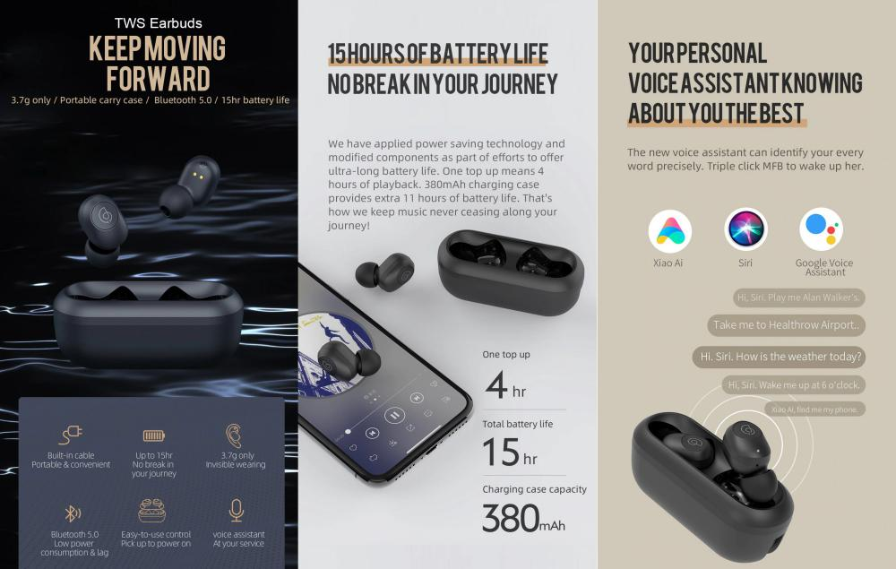 Haylou Gt2 Truly Wireless Earbuds (2)