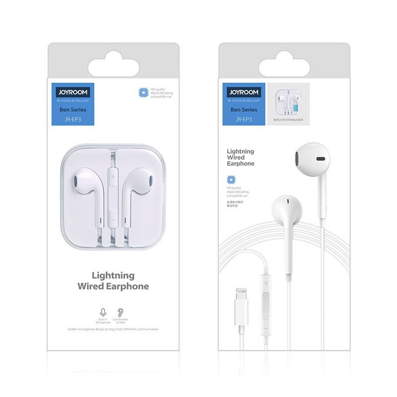 Joyroom Ep3 Wired Earphone For Iphone Xs Max Xr Xs 7 8 Plus (2)
