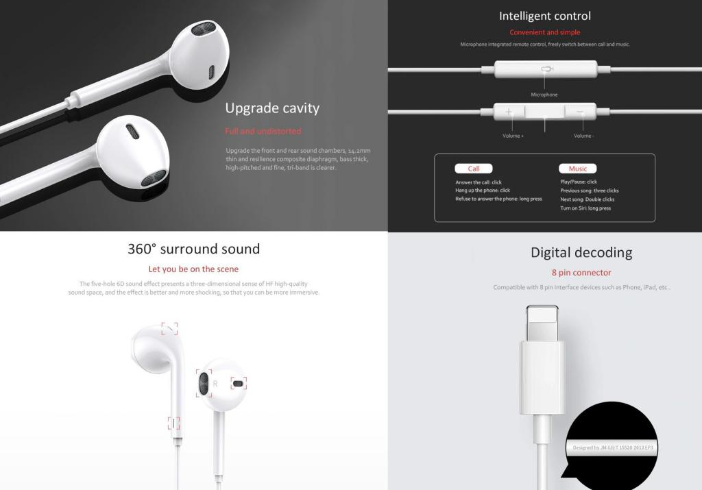 Joyroom Ep3 Wired Earphone For Iphone Xs Max Xr Xs 7 8 Plus (3)