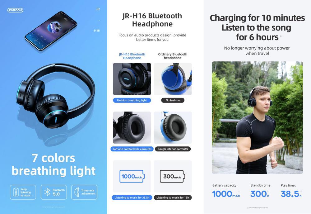 Joyroom Jr H16 Wireless Stereo Headset (3)