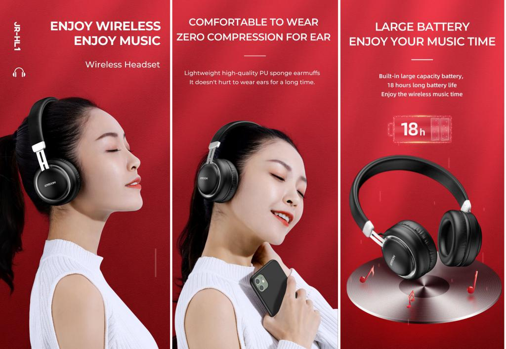Joyroom Jr Hl1 Bluetooth Headset (4)