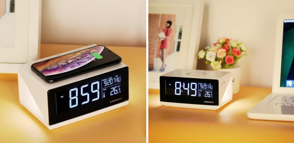 Momax Q Clock Digital Clock With Wireless Charger (1)