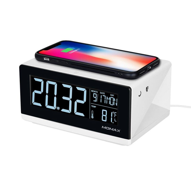 Momax Q Clock Digital Clock With Wireless Charger (4)