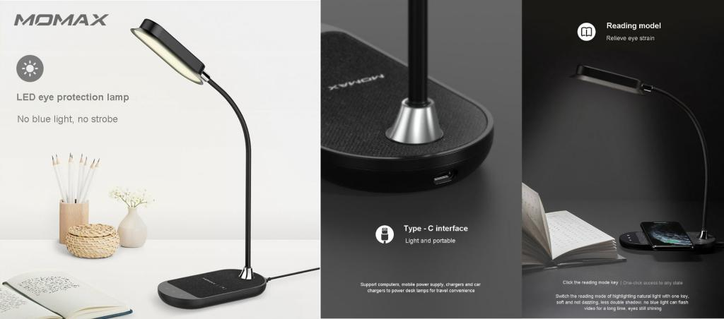 Momax Q Led Flex Desk Lamp With Wireless Charging (1)