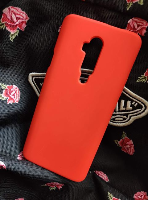 Oneplus 7t Pro Silicone Case Red (2)