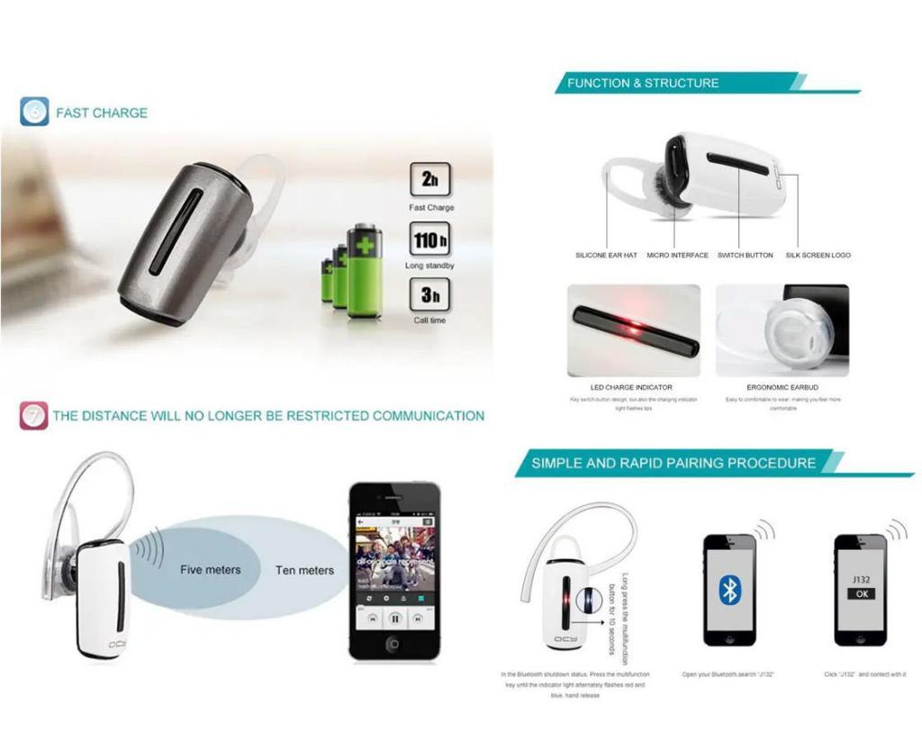 Qcy J132 Mini Single Headset Headphone (1)