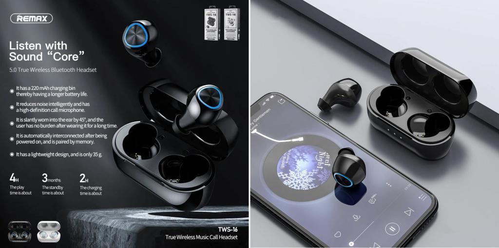 Remax Tws 16 True Wireless Earphones (1)