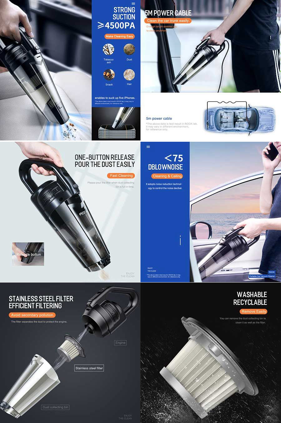 Rock Portable Wired Car Vacuum Cleaner (1)