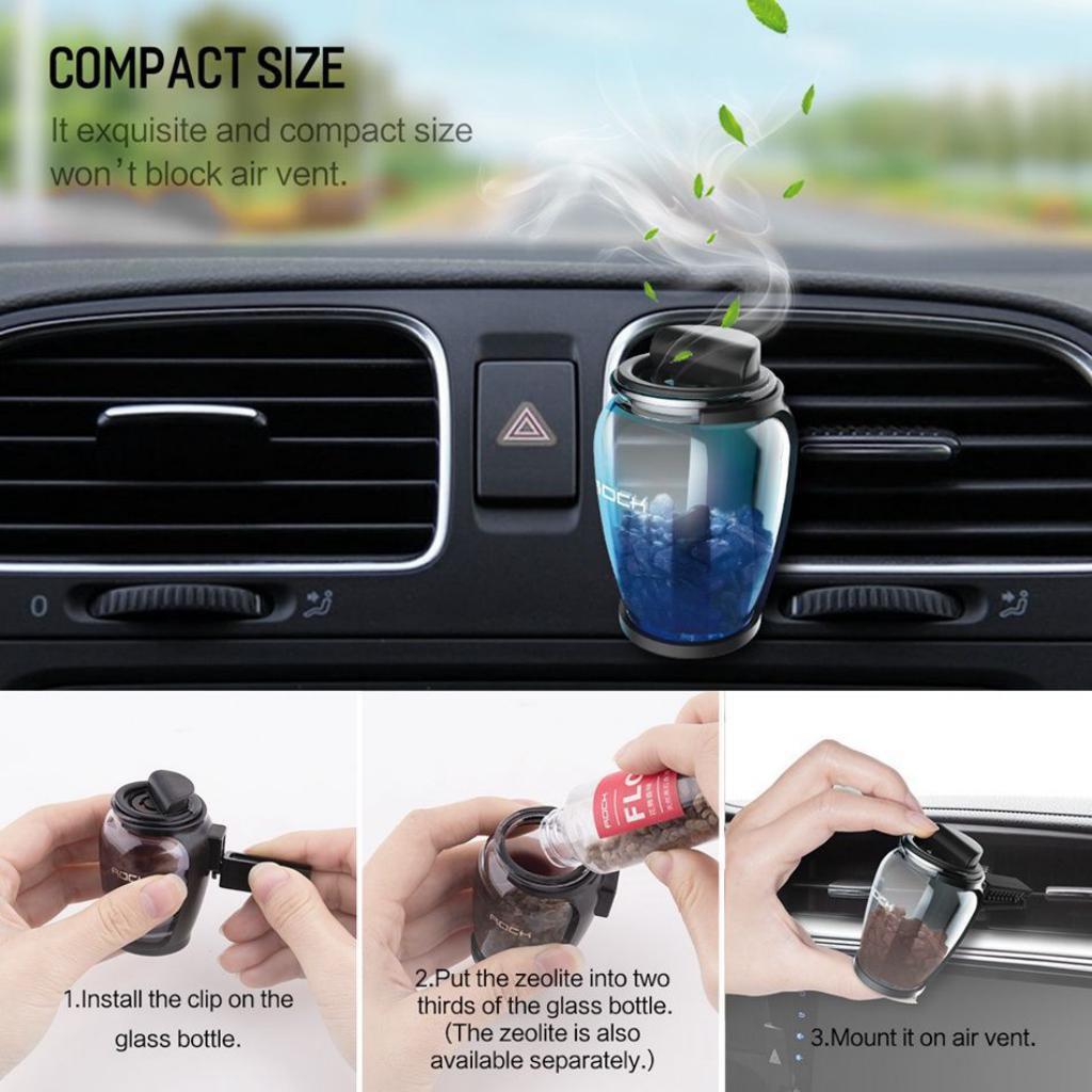 Rock Zeolite Aroma Air Freshener With Car Holder (2)